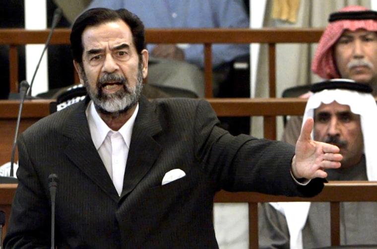 Former Iraqi President Saddam Hussein ge