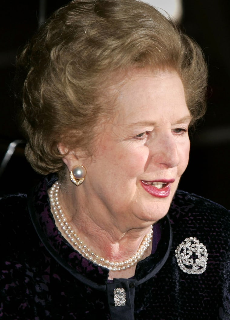 Former British Prime Minister Margaret Thatcher, 80, has been released from the hospital after an overnight stay.