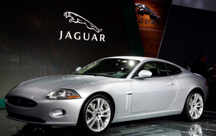 Jaguar's XK is on display at International car show IAA in Frankfurt
