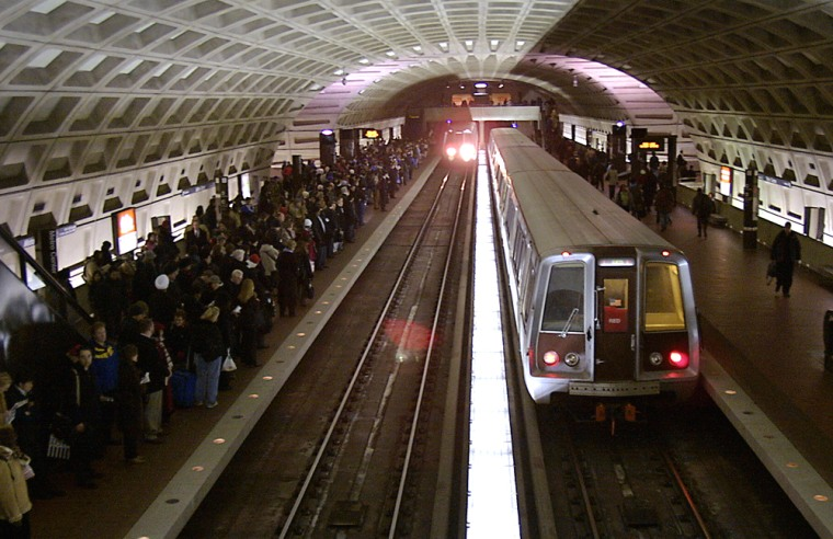 Patrons crowd the platform 20 December,
