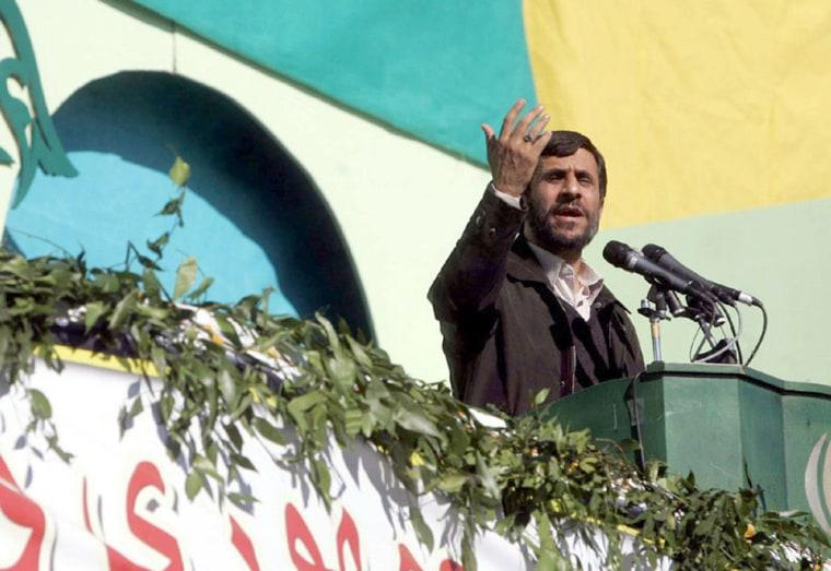 Iranian President Mahmoud Ahmadinejad speaks Wednesday in the southeastern Iranian city of Zahedan.