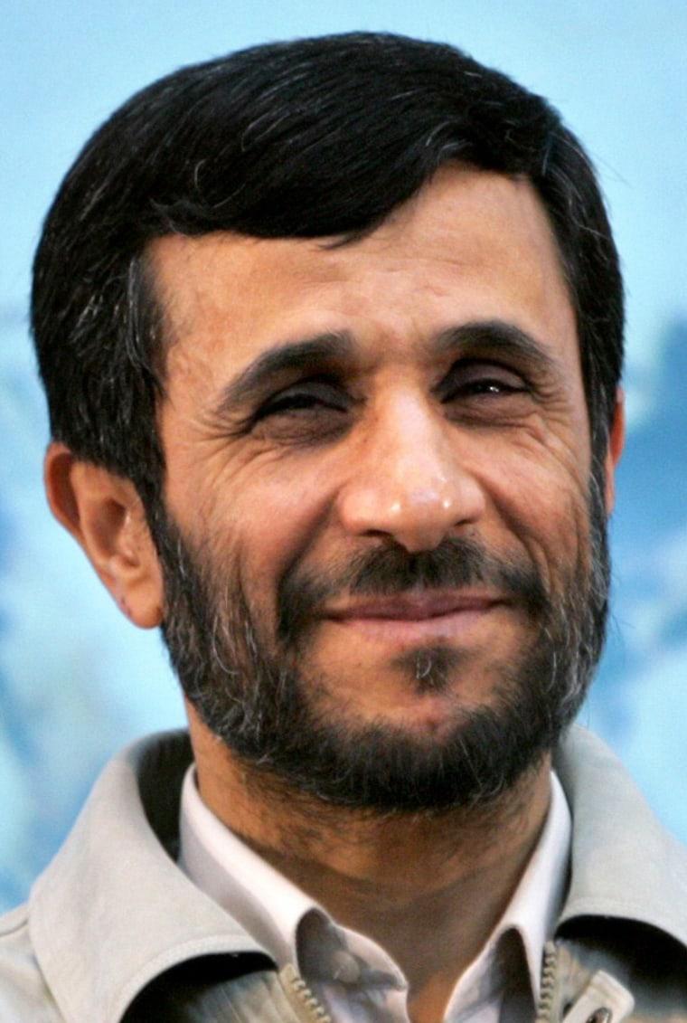 Iranian President Ahmadinejad speaks to students of Tarbiyat-Modarres University in Tehran