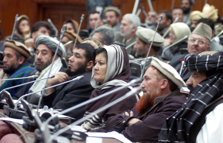 Afghan Members of Parliament (MP) attend