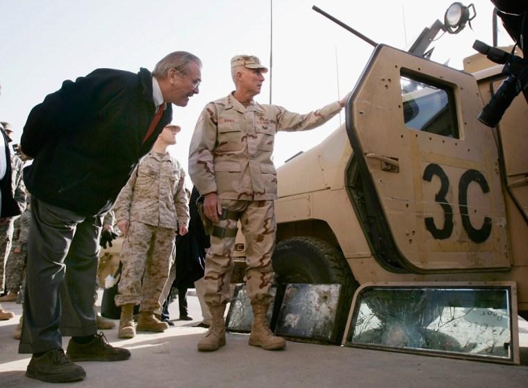 Donald Rumsfeld Visits Iraq