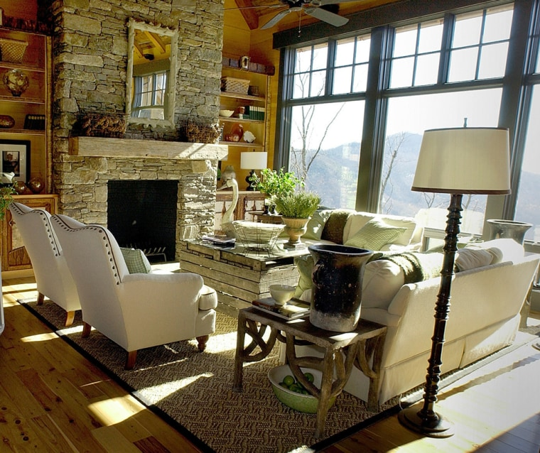 "Home and Garden Television's Dream Home, a 5,700-square-foot traditional-style mountain home perched atop a ridge in the Blue Ridge foothills near Lake Lure, N.C., will be awarded to one ""lucky"" winner on April 22."