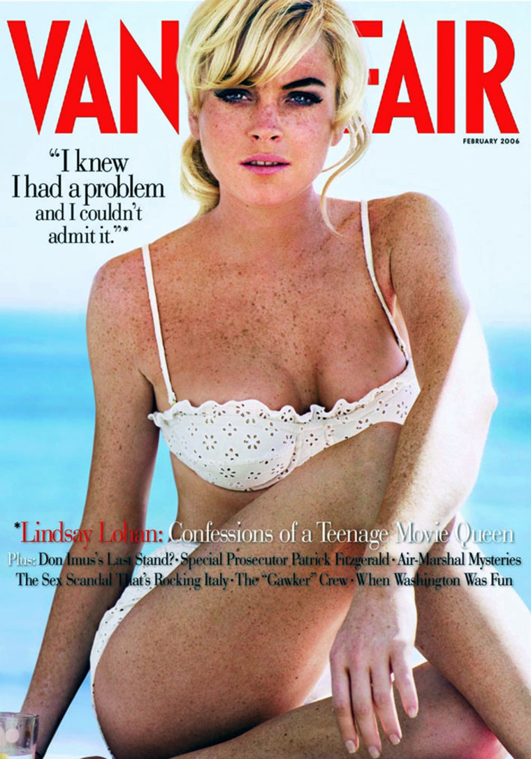 Actress Lindsay Lohan is featured on cover of the February 2006 issue of 'Vanity Fair'