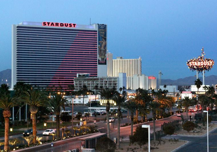 View of Stardust casino site in Las Vegas