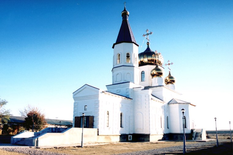 The Russian Orthodox church in Baikonur, Kazakhstan, was completed in June of last year. This Saturday will be the first time Christmas services are held there.