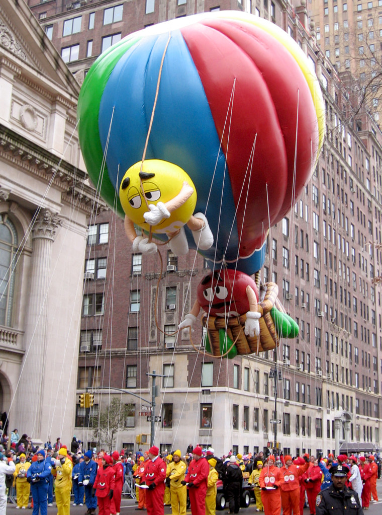 An accident involving the M&Ms balloon at the 2005 Macy's Thanksgiving Day Parade injured two sisters, but isn't expected to impact the public's view of Mars' popular icons.
