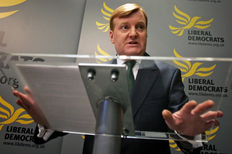 Britain's Liberal Democrat leader Kennedy makes statement announcing his resignation in central London