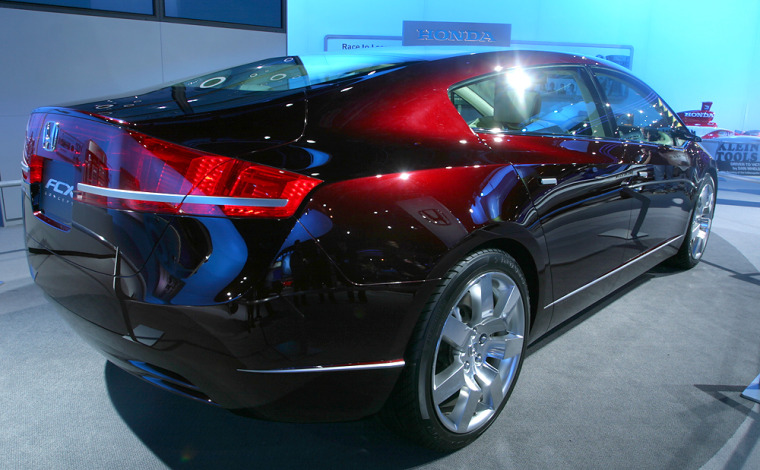 Honda FCX concept vehicle was displayed at the North American International Auto Show last January.