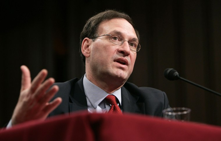 Judge Alito speaks at Senate confirmation hearings in Washington