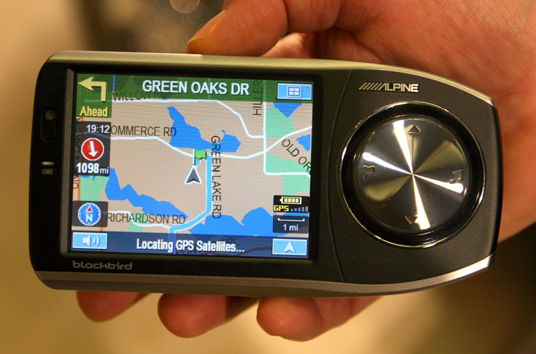 The Alpine PMD-B100 Blackbird portable navigation unit has a 3.8-inch digital touch screen, a built-in traffic receiver and transmits audio and voice commands wirelessly to a car's factory radio.