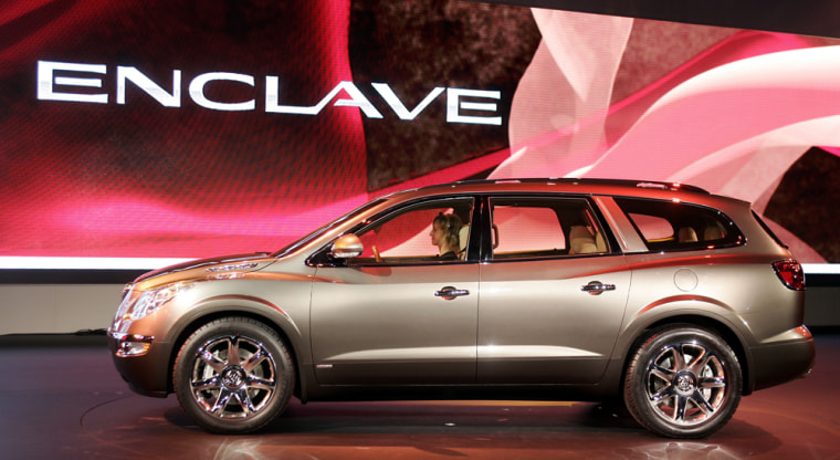 The Buick Enclave concept car is present