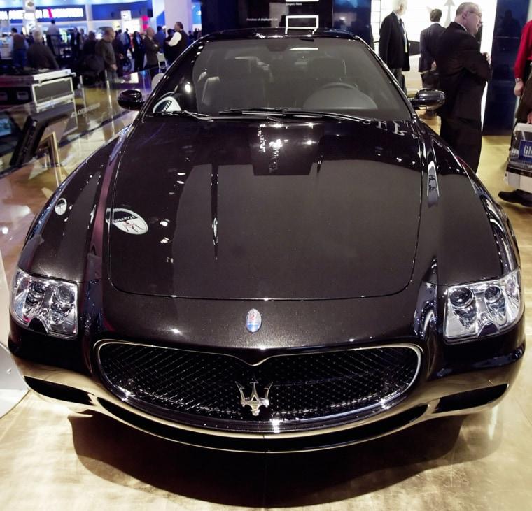 Maserati Quattroporte Sport GT sedan is displayed at Detroit Auto Show