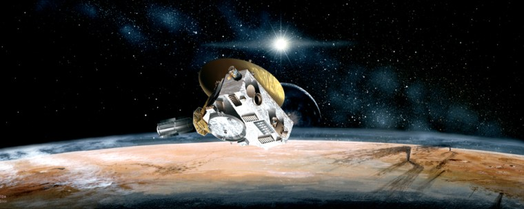 NASA'sNew Horizons probe, shown in this artist's conception, willrequire at least nine years to reach Pluto.
