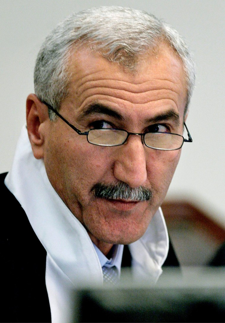 File photo of Presiding Judge Rizgar Mohammed Amin in Baghdad