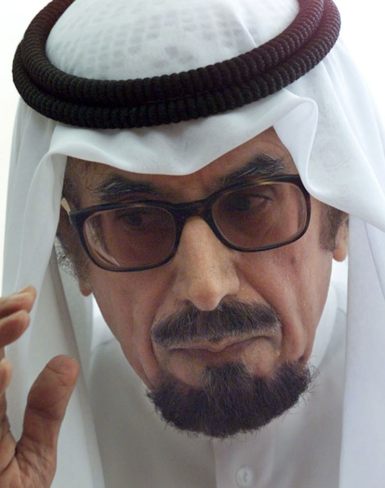 File photo of Kuwait's emir Sheikh Jaber al-Ahmad al-Sabah speaking in Beirut