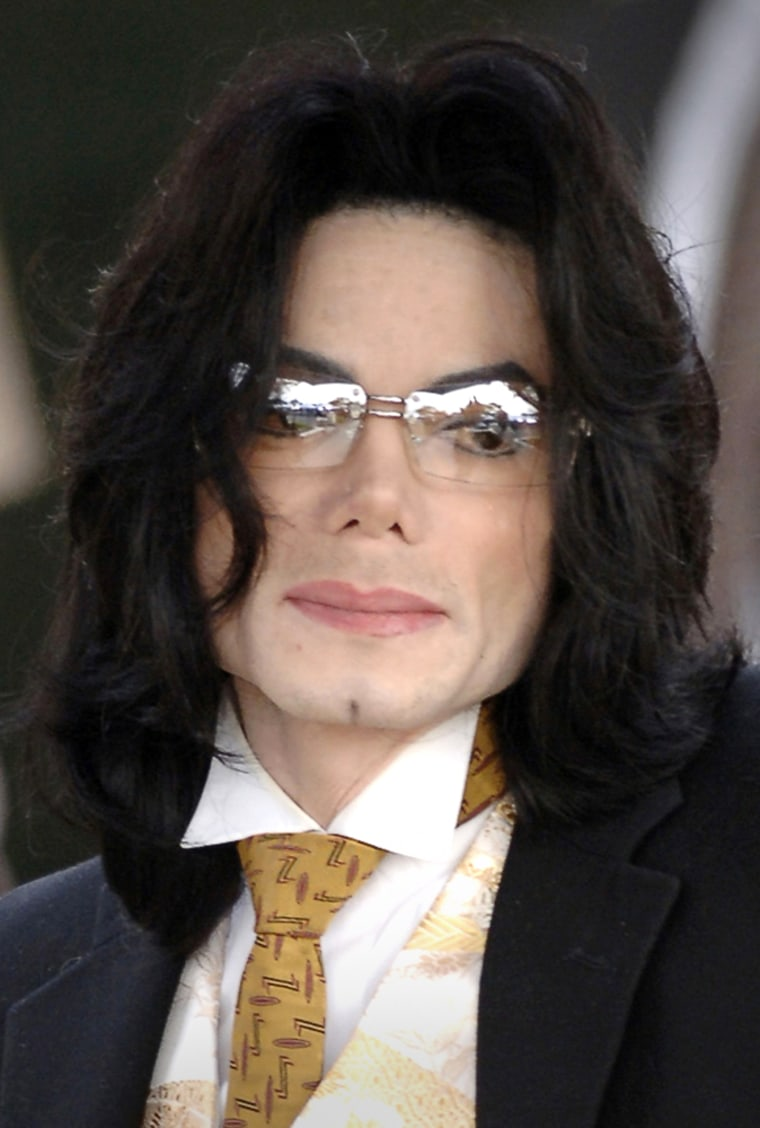 Michael Jackson, who plans to record a song to benefit victims of Hurricane Katrina, is seen in Santa Maria