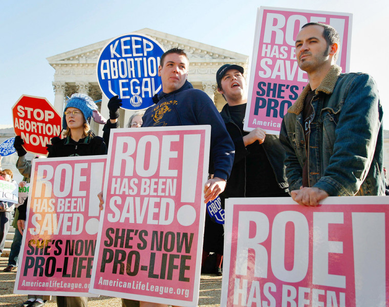 Protesters rally as US Supreme Court hears abortion case in Washington