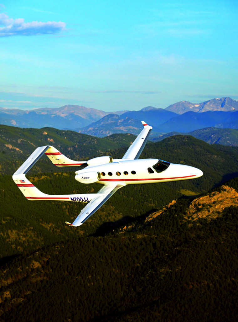 Adam Aircraft's A700 jetseats eight people and sells for$2 million.