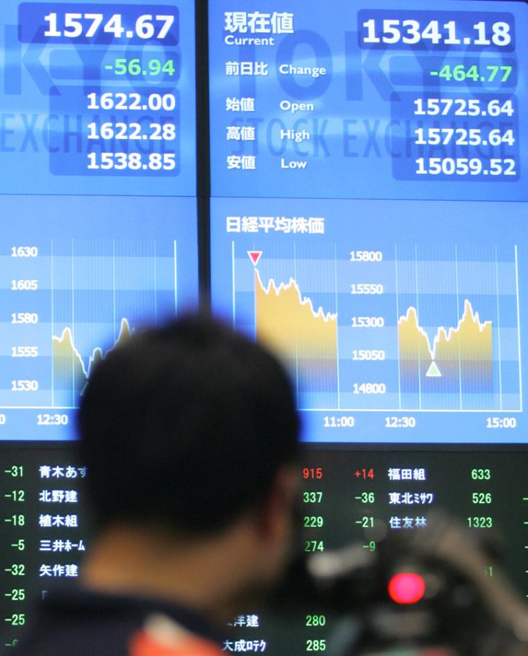 STOCK EXCHANGE TV CAMERAMAN