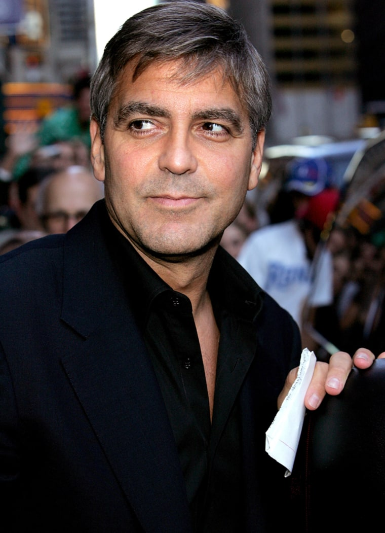 """George Clooney Arrives At"""" Late Show"""" With David Letterman"""
