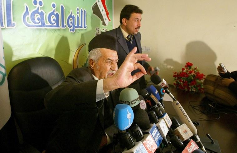 Adnan Dulaimi, the leader of the Iraqi P