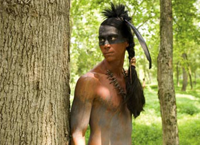"""Kalani Queypo portrays Parahunt in """"The New World,"""" amovie based on the sagasurrounding Pocahontas, Powhatan and Captain John Smith. The native language spoken by the actors was reconstructed by linguist Blair Rudes, based on studies of Algonquian languages."""