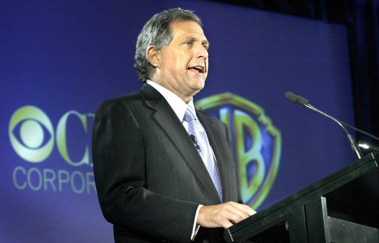 Leslie Moonves, president and CEO of CBS Corporation, announces the creation of the CW Television Network during a press conference in New York on Tuesday. The CW network will combine current networks the WB and UPN and begin operations in the fall.
