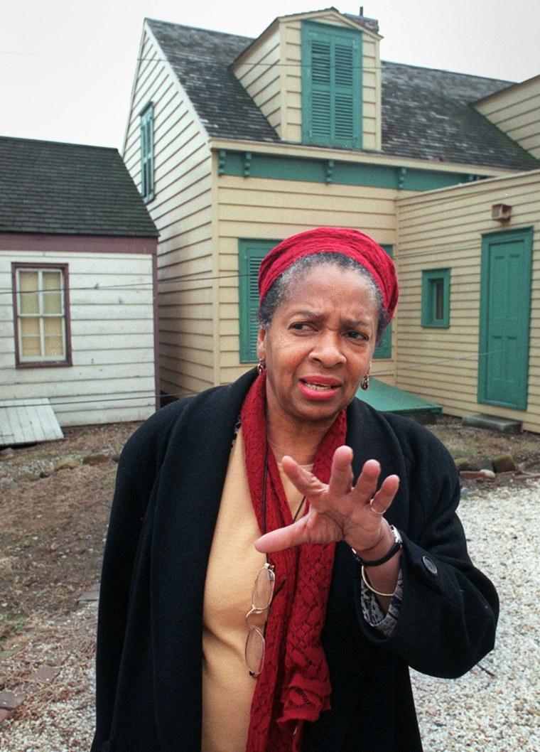 Joan Maynard, executive director of the Weeksville Society, ina February 1996 file photo, in Brooklyn, N.Y.
