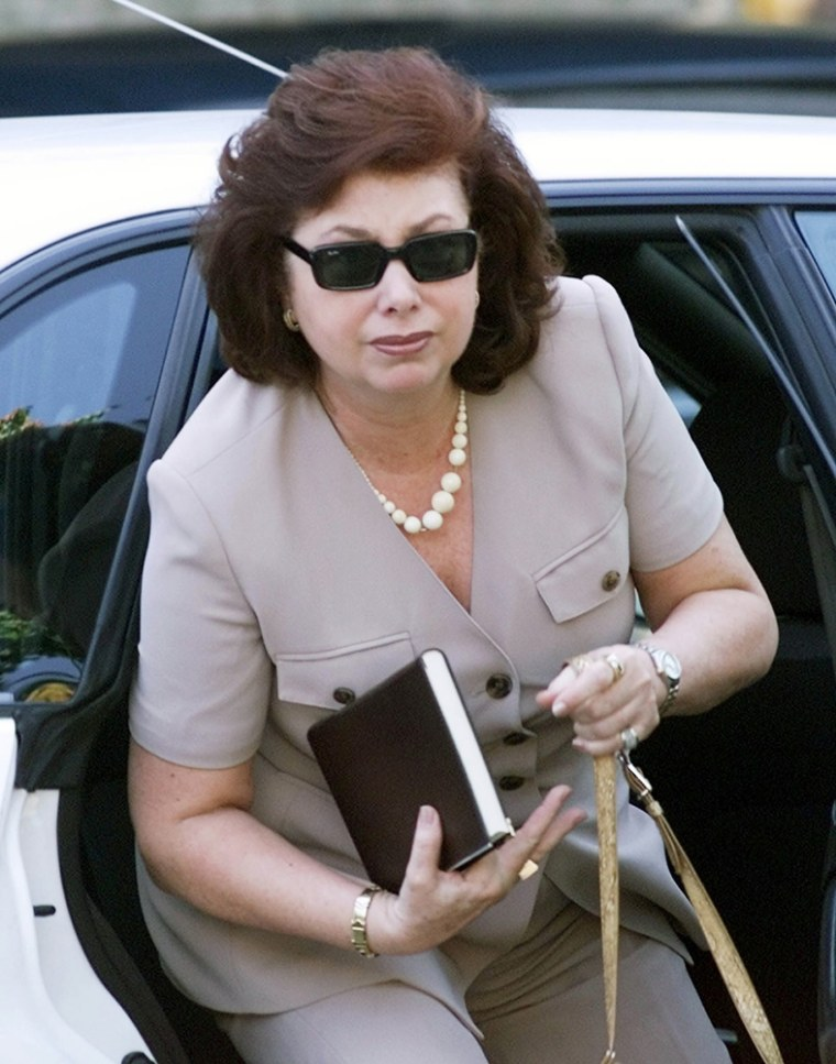 File photo Lucia Pinochet Hiriart arriving at Military Hospital in Santiago