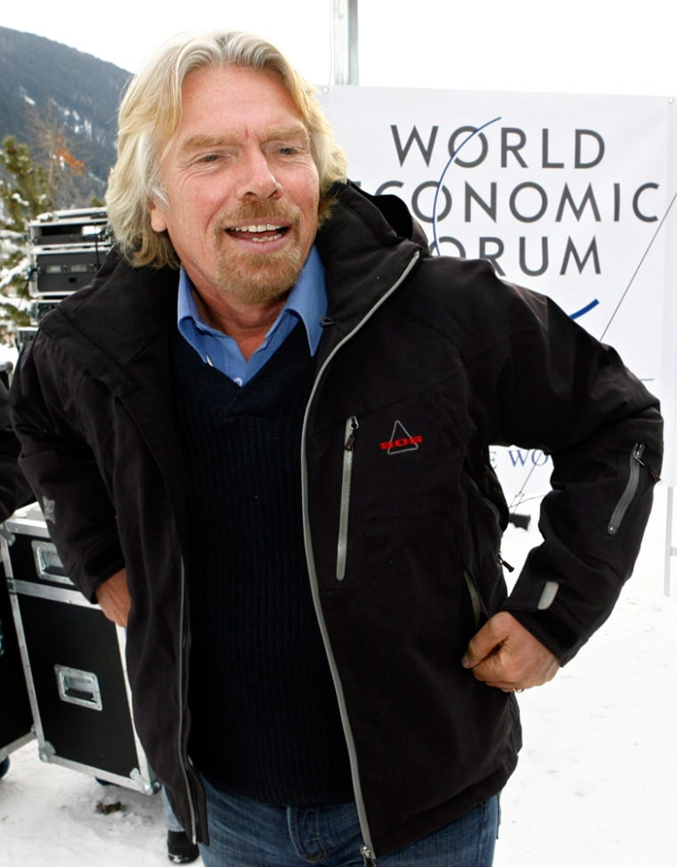 """Richard Branson, chairman and owner of the Virgin Group, said """"statistically, there is about a 6 percent chance that in any one year of the next 10 years this becomes a person-to-person problem, and we just have to hope it is not this year."""""""