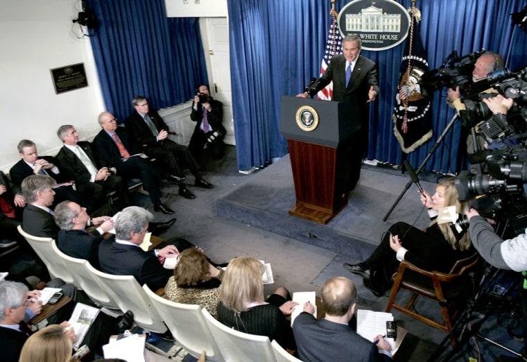 President Bush Holds A News Conference