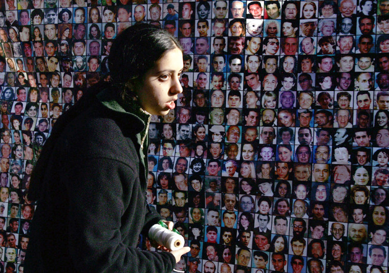 """An Israeli woman from the \""""Terror Victim"""