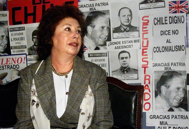 File photo of Lucia Pinochet, daughter of former Chilean dictator Augusto Pinochet