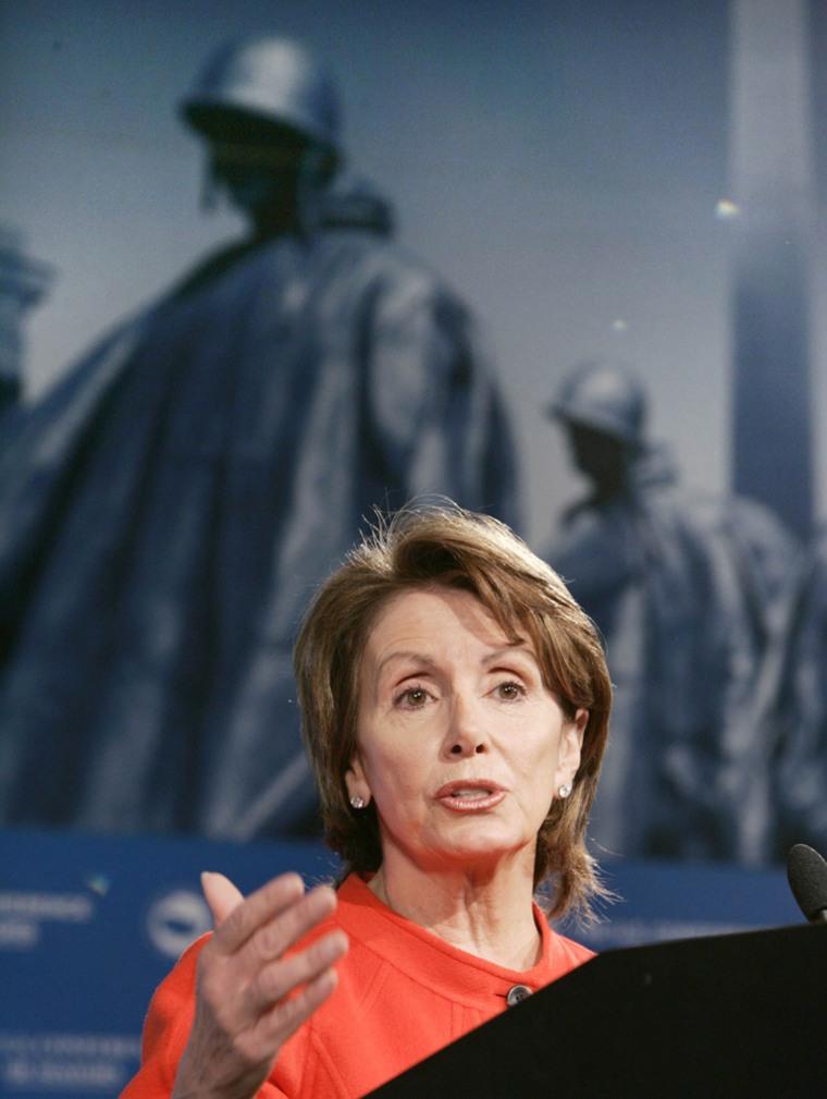 US House Minority Leader Nancy Pelosi speaks at US Conference of Mayors in Washington