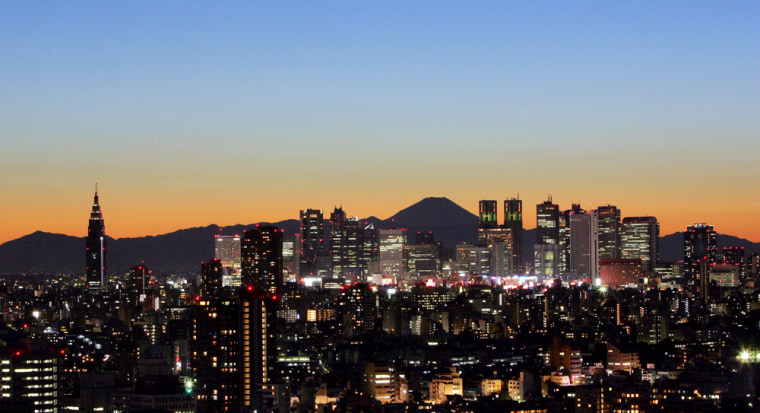 Japan's highest mountain, Mt. Fuji (3,77