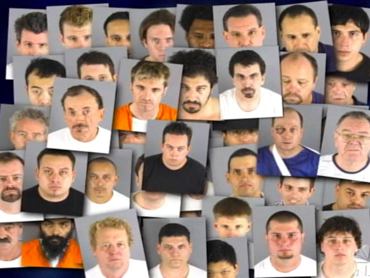 "Mugshots: 50 men were arrested after the latest installment of the ""Dateline"" report."