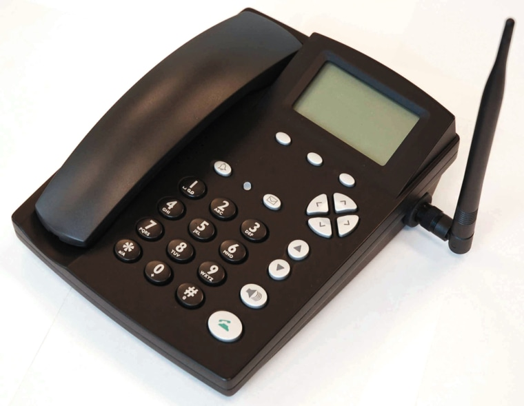 """This is a cell phone? Yep. CSI Wireless has designed """"fixed wireless"""" phones for those who like desk phones but want to dump their wired phone service."""