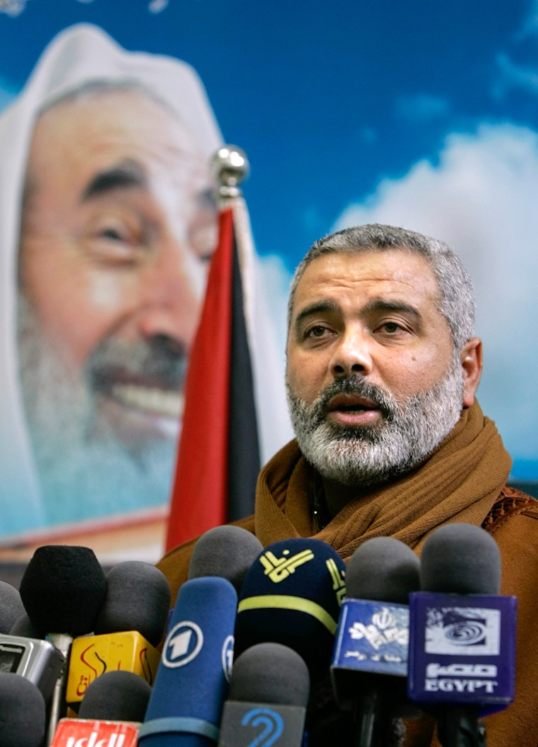 Hamas on Sunday nominated Ismail Haniyeh to be its prime minister.
