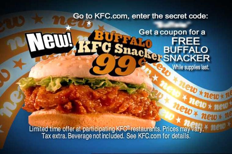 BUFFALO KFC SNACKER SANDWICH
