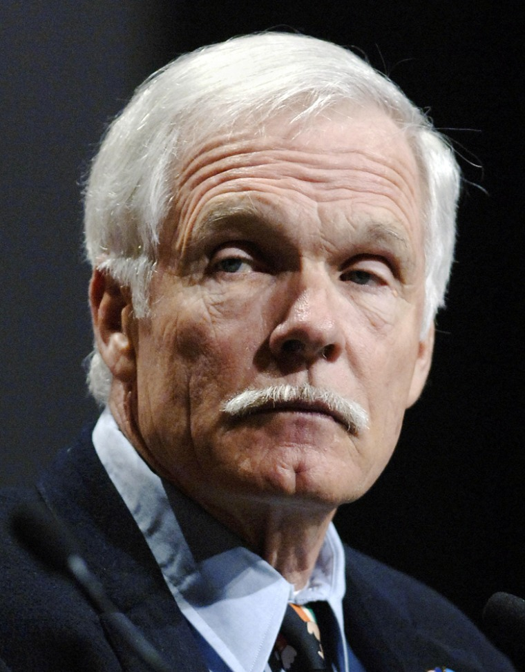 Ted Turner, chairman, UN Foundation, lis