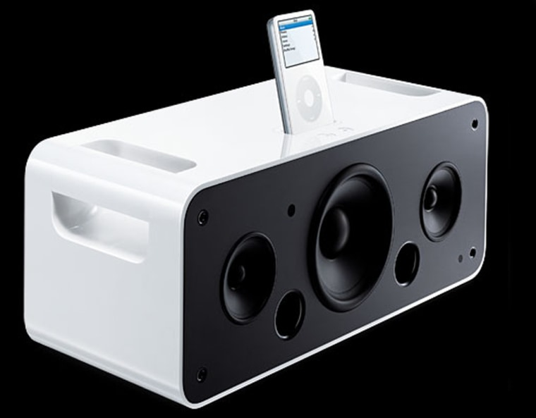 The new iPod Hi-Fi system is priced at $349.