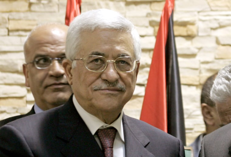 Palestinian Authority President Mahmoud Abbas said Thursday that Palestinian security forces have evidence al-Qaida operatives are in their territories.