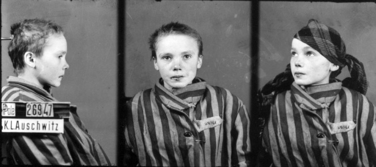 A prisoner identity photo taken by Wilhelm Brasse while working in the photography department at Auschwitz, the Nazi-run death camp where some 1.5 million people, most of them Jewish, died during World War II.