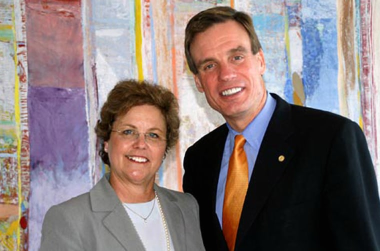 Francine Busby with former Virginia Gov. Mark Warner.