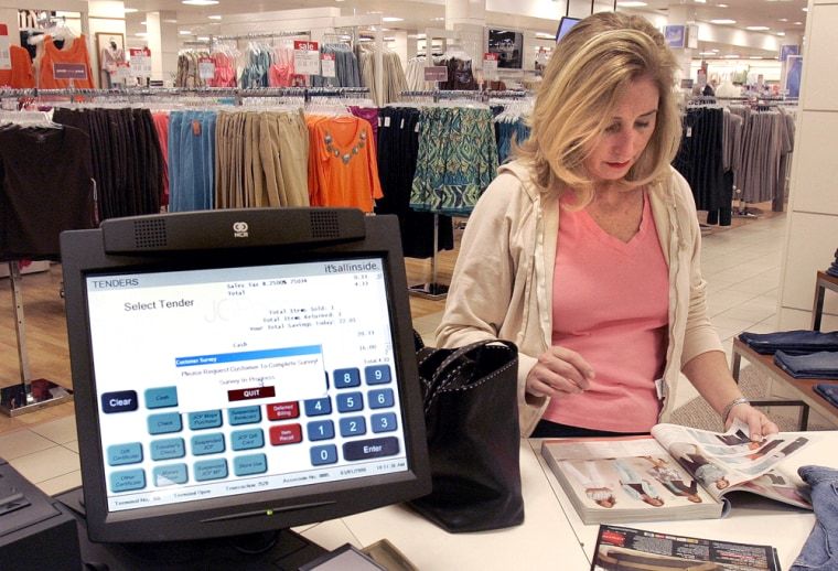 Customers in the Frisco, Texas J.C. Penney store can shop the aisles, catalog or the company's Web site at touch-screen stations.
