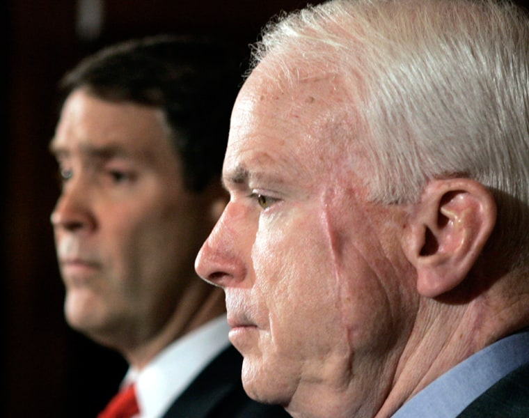 Frist And McCain Discuss Bolton Nomination