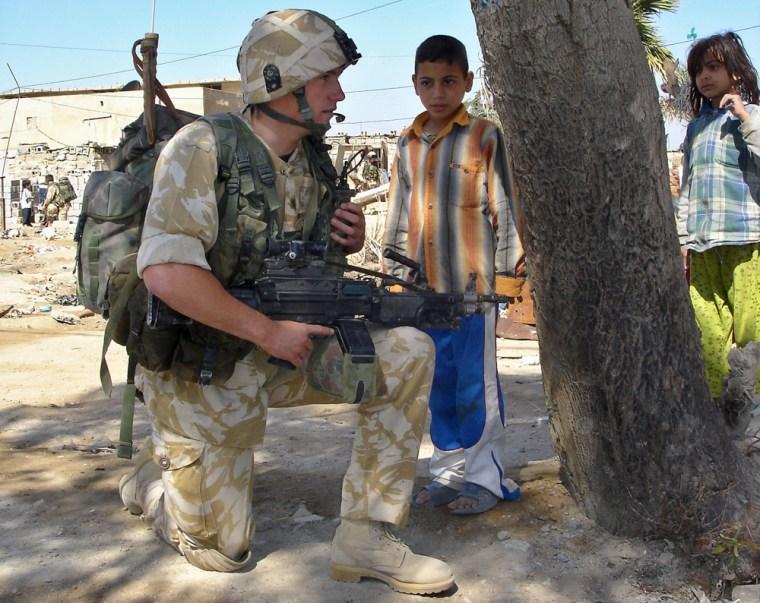 British Soldiers Patrol Basra